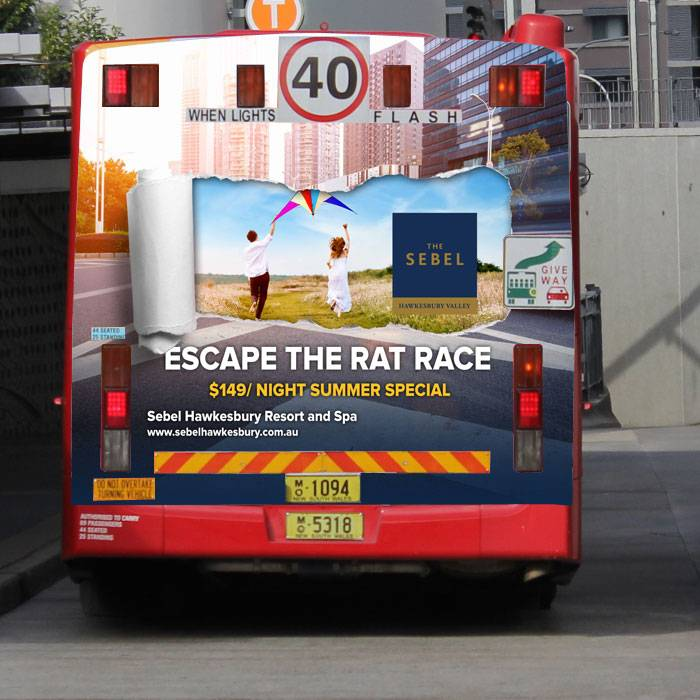 sebel-bus-signage-escape-the-rat-race